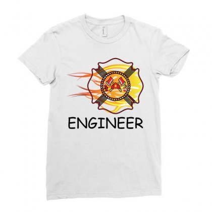 Fire Department Engineer Ladies Fitted T-shirt Designed By Sabriacar