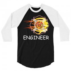 FIRE DEPARTMENT ENGINEER 3/4 Sleeve Shirt   Artistshot