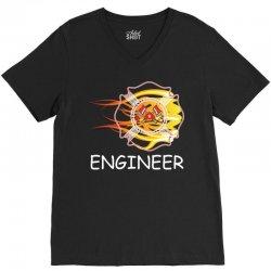 FIRE DEPARTMENT ENGINEER V-Neck Tee   Artistshot
