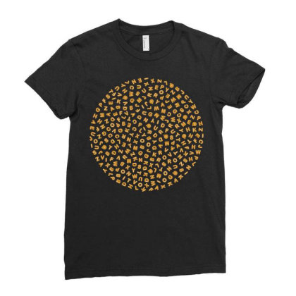 Gingerbread Circle Ladies Fitted T-shirt Designed By Chiks
