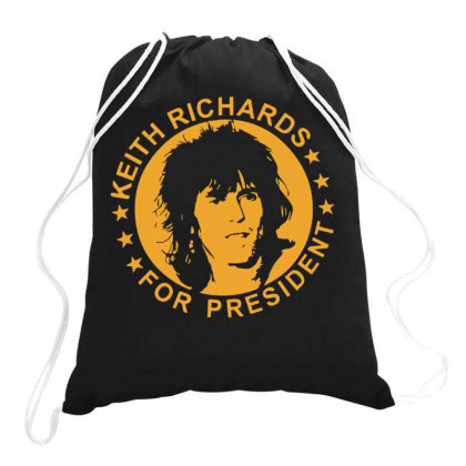 Keith Richards For President Drawstring Bags Designed By Scarlettzoe