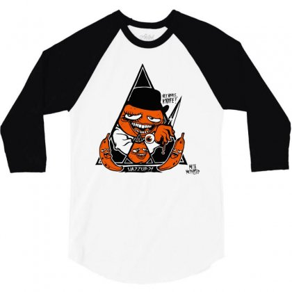 Annoying Clockwork Orange 3/4 Sleeve Shirt Designed By Mdk Art