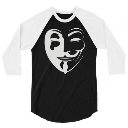 Anonymous 3/4 Sleeve Shirt Designed By Mdk Art