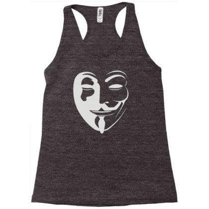 Anonymous Racerback Tank Designed By Mdk Art