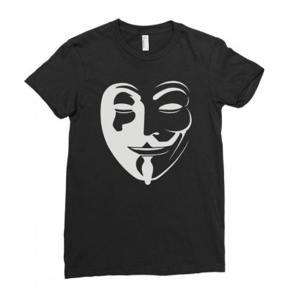 Anonymous Ladies Fitted T-shirt Designed By Mdk Art