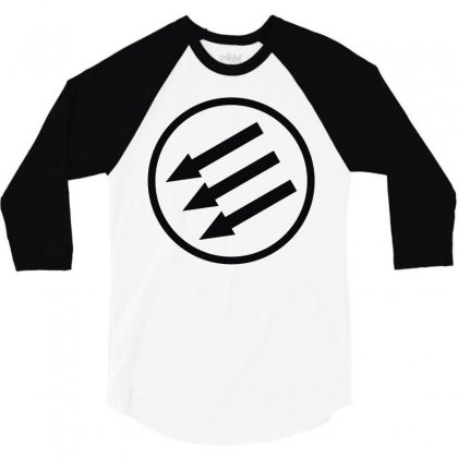 Antifa Arrows 3/4 Sleeve Shirt Designed By Mdk Art