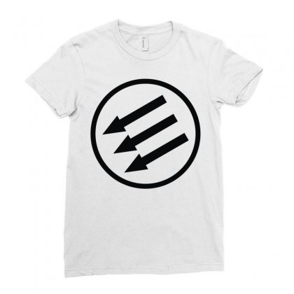 Antifa Arrows Ladies Fitted T-shirt Designed By Mdk Art