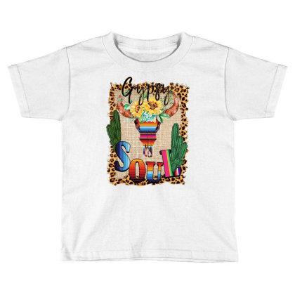 Gypsy Soul Serape Cactus Toddler T-shirt Designed By Badaudesign