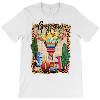 Gypsy Soul Serape Cactus T-shirt Designed By Badaudesign