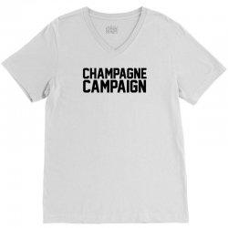 Champagne Campaign V-Neck Tee | Artistshot