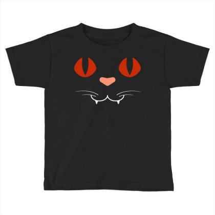 Cat Face Toddler T-shirt Designed By Fanshirt