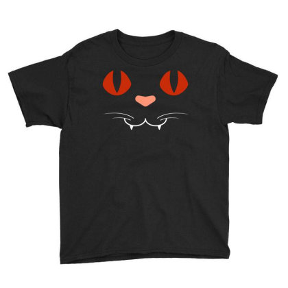 Cat Face Youth Tee Designed By Fanshirt