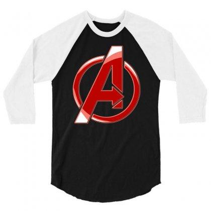 Avenger Logo 3/4 Sleeve Shirt Designed By Mdk Art