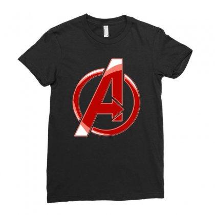 Avenger Logo Ladies Fitted T-shirt Designed By Mdk Art