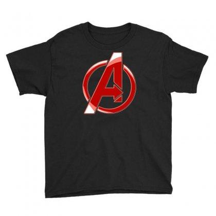 Avenger Logo Youth Tee Designed By Mdk Art