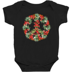 Christmas Peace Baby Bodysuit Designed By Badaudesign