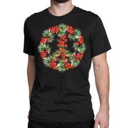 Christmas Peace Classic T-shirt Designed By Badaudesign