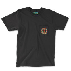 Christmas Peace Pocket T-shirt Designed By Badaudesign