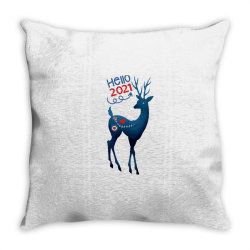 Christmas Day - Hello 2021 Throw Pillow Designed By Lonnieyrussell