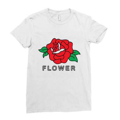 Flower Ladies Fitted T-shirt Designed By Fahmifutri