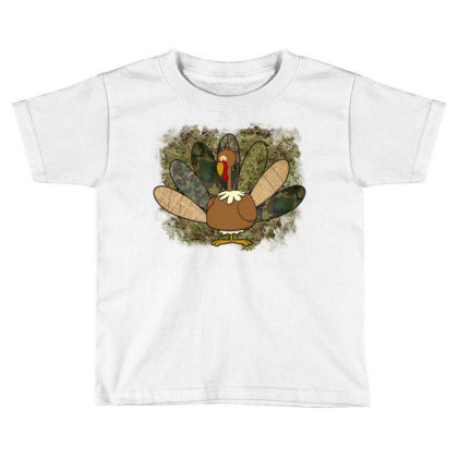 Turkey Thanksgiving Camouflage Toddler T-shirt Designed By Badaudesign