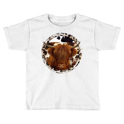 Highland Cow Toddler T-shirt Designed By Badaudesign