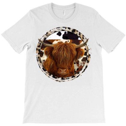Highland Cow T-shirt Designed By Badaudesign