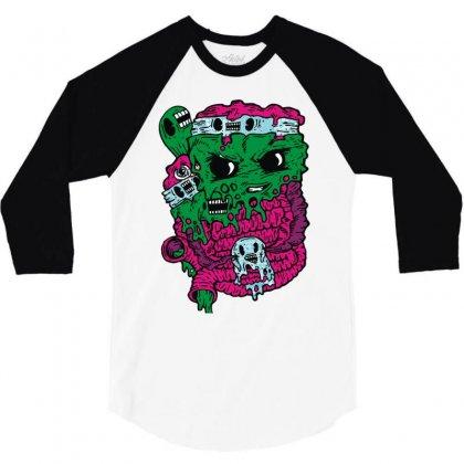 Band Tee 3/4 Sleeve Shirt Designed By Mdk Art
