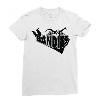 Bandit Ladies Fitted T-shirt Designed By Mdk Art