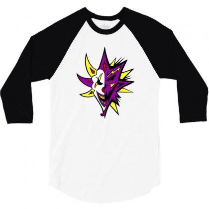 Bang Pow Boom Nuclear Edition Icp Insane Clown Posse Black Tee 3/4 Sleeve Shirt Designed By Mdk Art