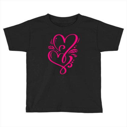 Double Heart Doodle Toddler T-shirt Designed By L4l4pow