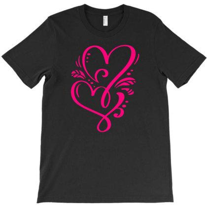Double Heart Doodle T-shirt Designed By L4l4pow