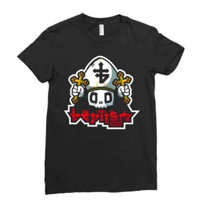 Baptism Records Ladies Fitted T-shirt Designed By Mdk Art