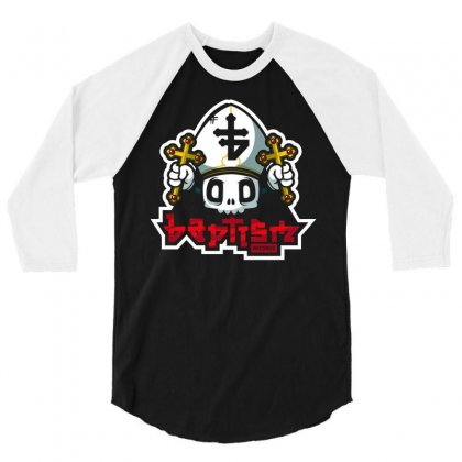 Baptism Records 3/4 Sleeve Shirt Designed By Mdk Art