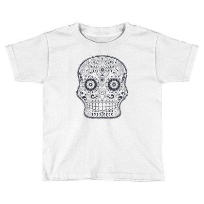 Freaky Skull Death Punk Rock Metal Toddler T-shirt Designed By Fanshirt