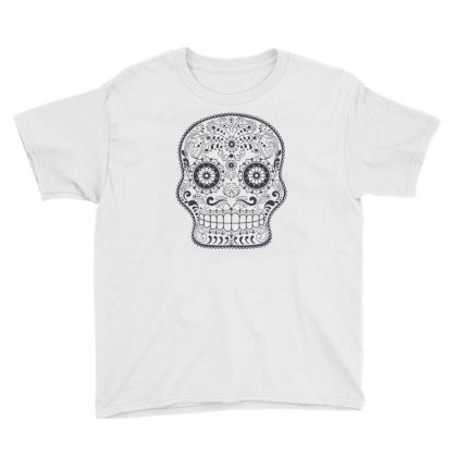 Freaky Skull Death Punk Rock Metal Youth Tee Designed By Fanshirt