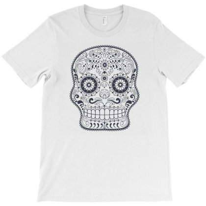 Freaky Skull Death Punk Rock Metal T-shirt Designed By Fanshirt