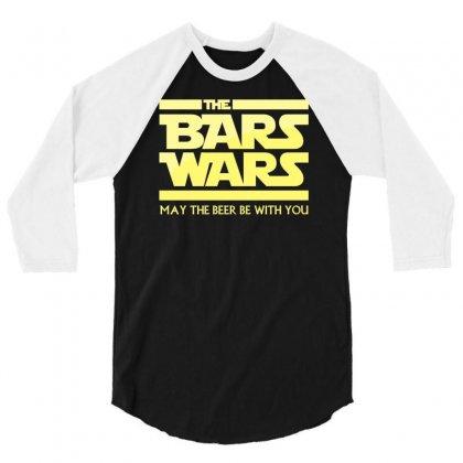 Bars Wars 3/4 Sleeve Shirt Designed By Mdk Art
