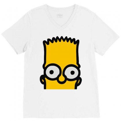 Bart Simpson V-neck Tee Designed By Mdk Art