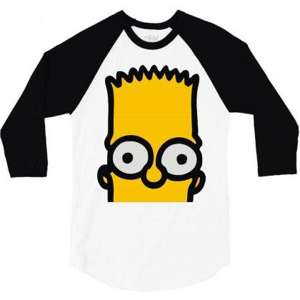 Bart Simpson 3/4 Sleeve Shirt Designed By Mdk Art