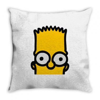 Bart Simpson Throw Pillow Designed By Mdk Art