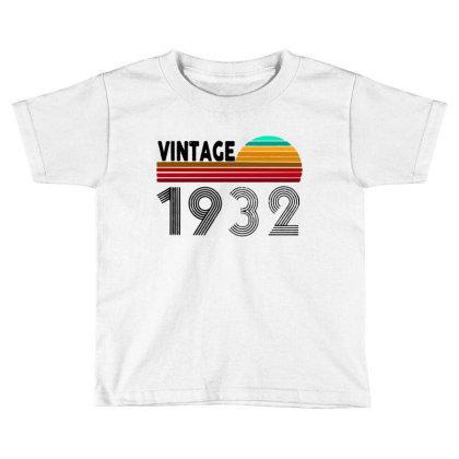 1932 Vintage Funny 88th Birthday Toddler T-shirt Designed By Batikmadrim Art