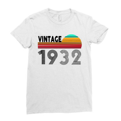 1932 Vintage Funny 88th Birthday Ladies Fitted T-shirt Designed By Batikmadrim Art