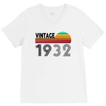1932 Vintage Funny 88th Birthday V-neck Tee Designed By Batikmadrim Art