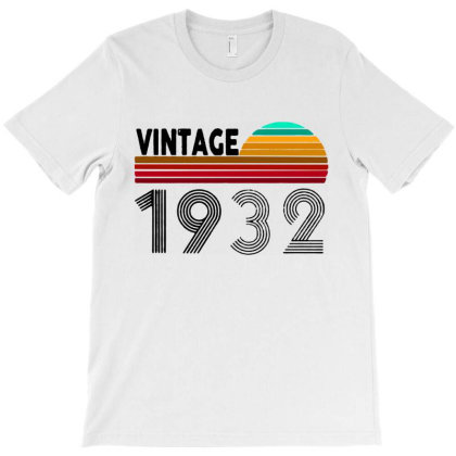 1932 Vintage Funny 88th Birthday T-shirt Designed By Batikmadrim Art