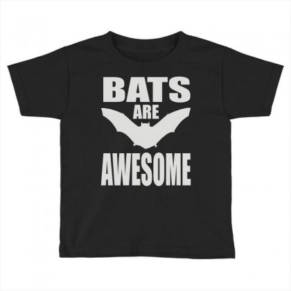 Bats Are Awesome Toddler T-shirt Designed By Mdk Art