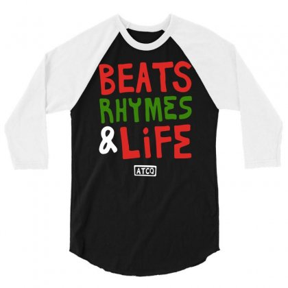 Beats Rhymes Life 3/4 Sleeve Shirt Designed By Mdk Art