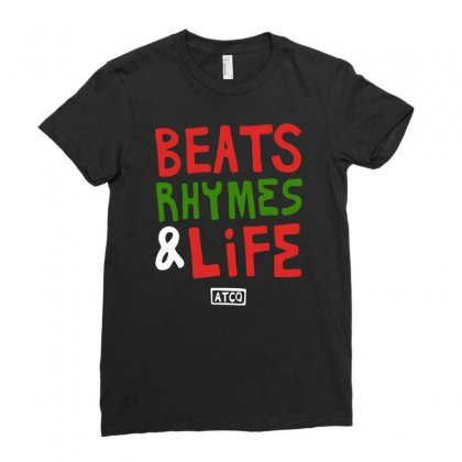 Beats Rhymes Life Ladies Fitted T-shirt Designed By Mdk Art