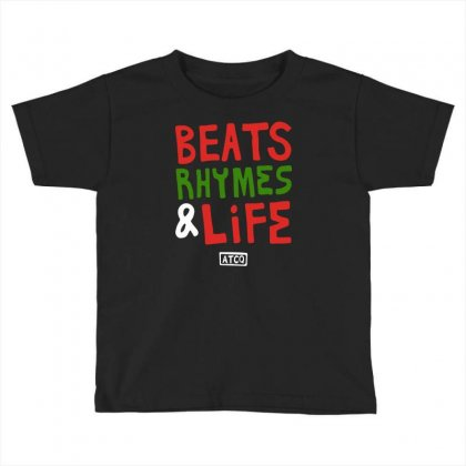 Beats Rhymes Life Toddler T-shirt Designed By Mdk Art
