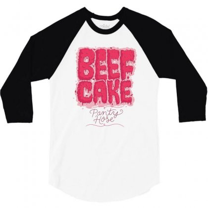 Beef Cake 3/4 Sleeve Shirt Designed By Mdk Art